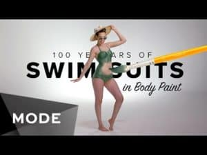 100 Years of Swimwear in Body Paint