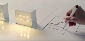 Pen transmite graças circuitos de tinta condutora no papel