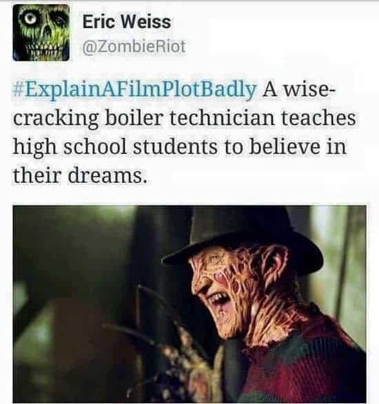 """Film-Plot von """"A Nightmare on Elm Street"""" schlecht erklärt"""