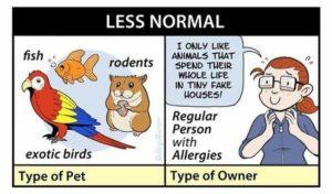 Die Gruseligkeit von Haustierbesitzern