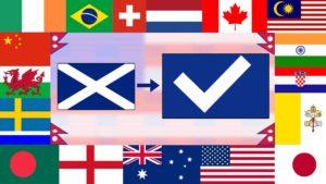 Jack Douglass bringt Landesflaggen auf den neuesten Stand