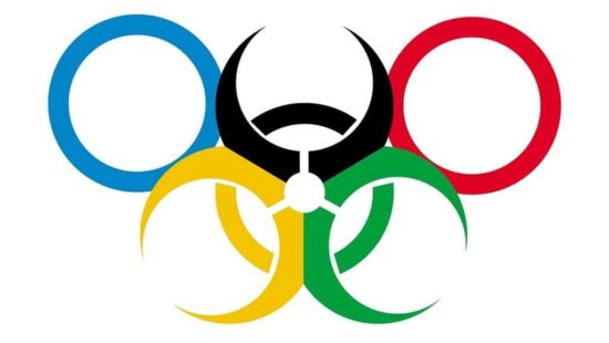 True logo of the Olympic Games in Rio