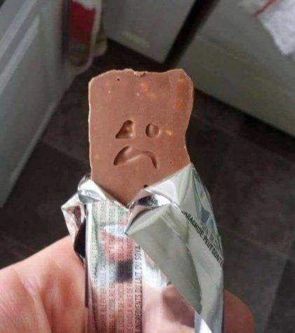 A barra de chocolate triste