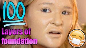 Wie 100 Lagen Make-up aussehen