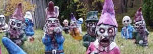 Your neighbors will love this zombie garden gnomes