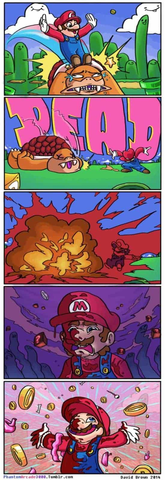 The brutal reality when Super Mario jumps on Koopa Kids