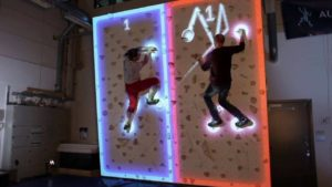 Climball battle: How gambles the video game classic Pong on the climbing wall