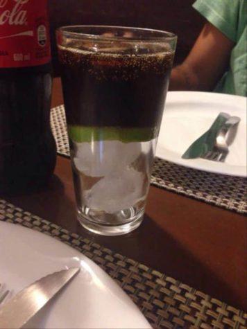 Eine Cola auf Eis