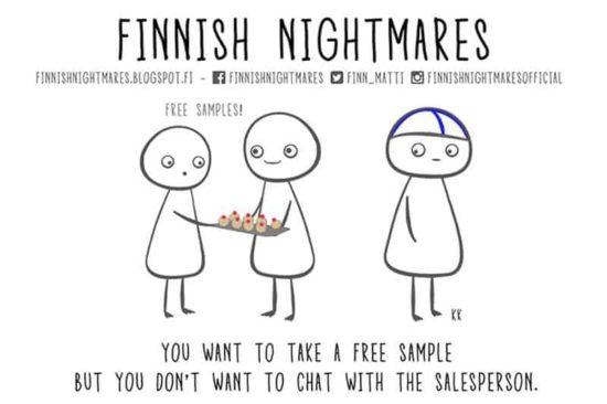 Finnische Albträume, die jeder Introvertiert Mensch kennen wird