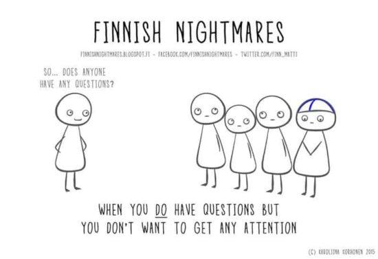 pesadelos finlandeses, todos introvertido homem conhecerá