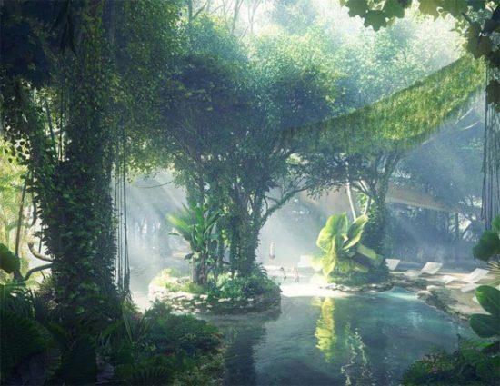 Luksusowe Dubaj: Hotel włączenie lasów deszczowych