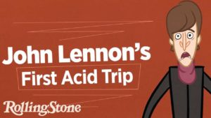 primeira viagem de ácido de animação John Lennon