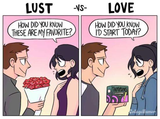 Lust vs. Love