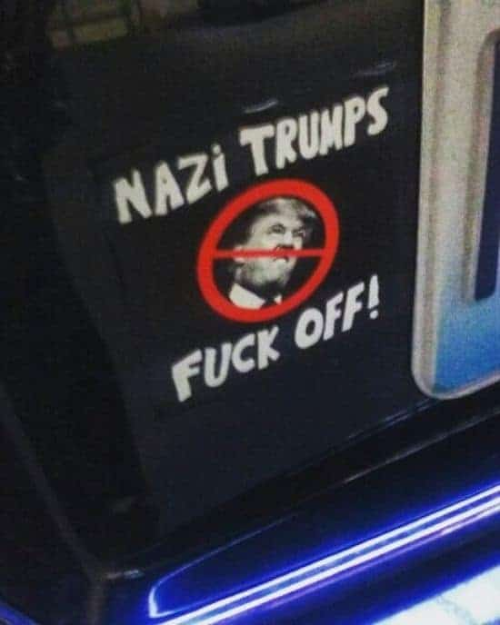 Nazi Trumps Fan Off