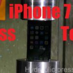 The iPhone 7 in the hydraulic press