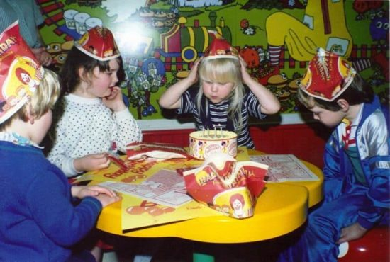 Flashback of the Day: Birthday party at McDonalds