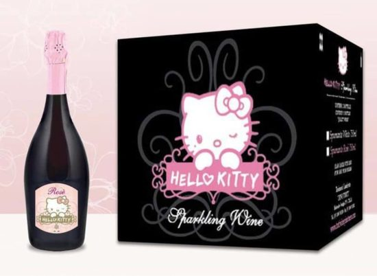 Resmi Hello Kitty ÅŸarap