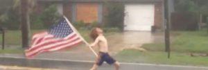 Hurricane Matthew: Headbanger trodser med Slayer og amerikanske flag orkan
