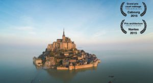 The Mont Saint Michel: Seen monastery with a drone and in a 360 ° Video