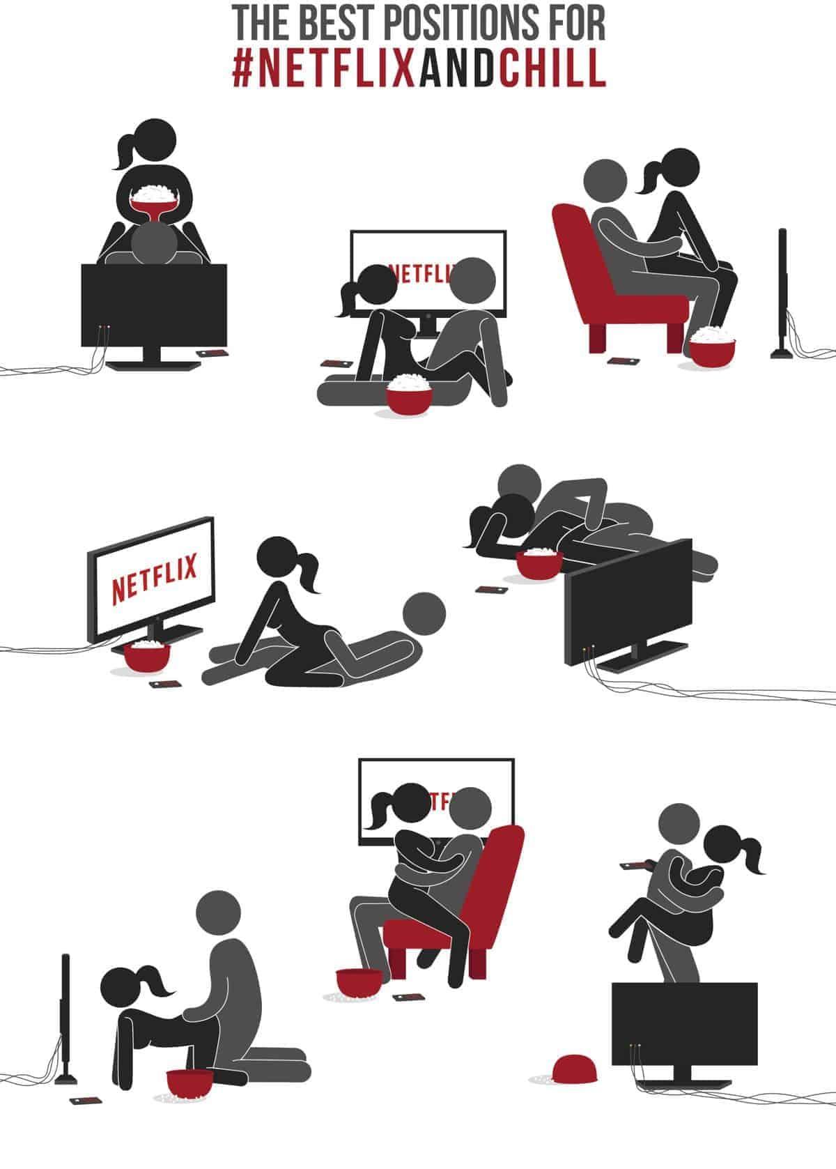 Die besten Stellungen für Netflix & Chill   Dravens Tales