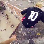 Rooftop Escape POV: Parkour Lauf über Fabrikdächer