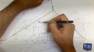 Tutorial wie man perspektivisch zeichnet mit Hilfe eines Gummibands