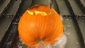 How to Carve a face out of a pumpkin with water pressure