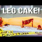 How to Halloween bakes his leg Cake