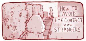 Wie man Augenkontakt mit Fremden vermeidet