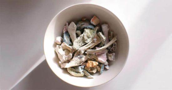 Cremation Design: Morbid dishes of human bones