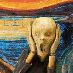 """l'urlo"" di Edvard Munch come action figure"