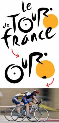 Den Radfahrer im Logo der Tour de France erkennt man doch relativ gut