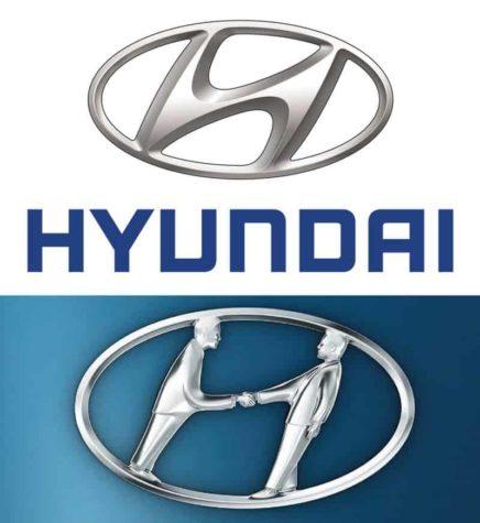 Das Logo des Autoherstellers steht für den ersten Buchstaben ihres Namens, oder doch nicht? Nicht nur, es stellt auch einen Handschlag zwischen einem Autohändler und einem Kunden dar.