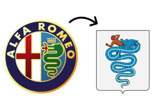 Das Schlüsselelement des Logos des italienischen Automobilherstellers ist eine Schlange, die einen Mann frisst