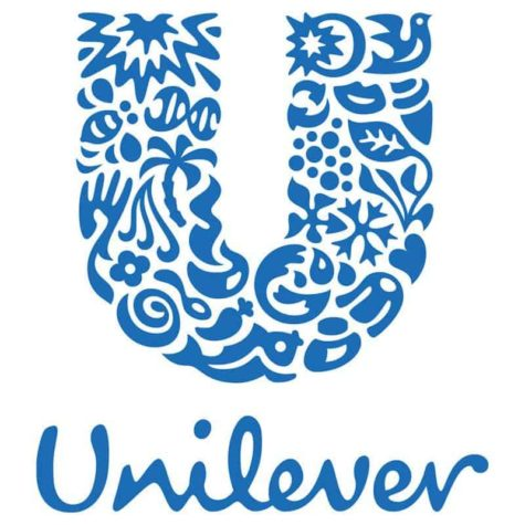 Das Logo von Unilever besteht aus Ikonen, die unterschiedliche Aspekte des nachhaltigen Wohnens repräsentieren