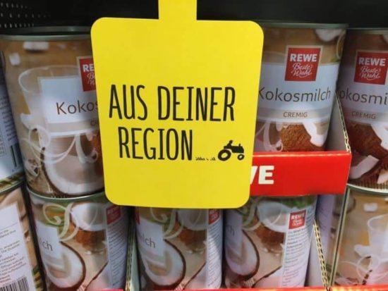 Le lait de coco dans votre région