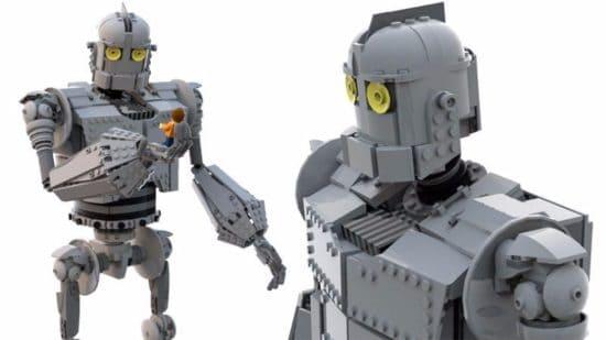 Der Gigant aus dem All gemacht aus Lego