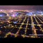 Fly with a drone over the New Year fireworks in Lima