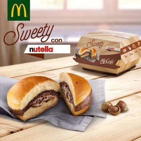 Na Itália há no McDonalds para Burger Nutella