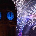 fuegos artificiales de Año Nuevo 2016 Londres longitud completa