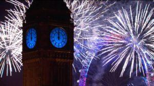 fuochi d'artificio di Capodanno 2016 Londra tutta lunghezza