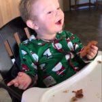 Trate de tocino por primera vez en la Navidad