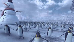 11'000 Penguins come against 4'000 Santas to a bloody battle on