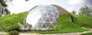 Biodomes: Spherical house of glass and metal