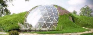 Biodomes: Pyöreät house lasia ja metallia
