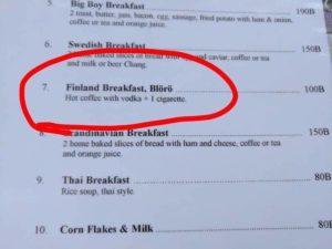 Finland frukost, Blörö
