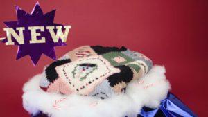 Der weltweit erste Weihnachtspullover aus Bauchnabelfusseln