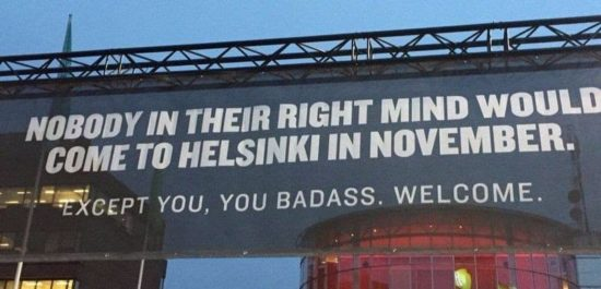 How was received in November in Helsinki