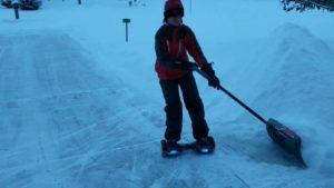 Hoverboard Schneepflug