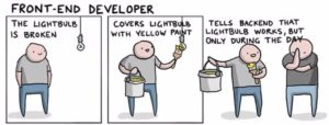 IT Jobs explained with a broken light bulb